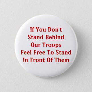 Support Our Troops 6 Cm Round Badge