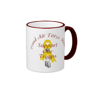Support Our Troops Air Force Mom (Yellow Ribbon) Coffee Mugs