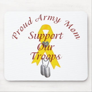 Support Our Troops Army Mom (Yellow Ribbon) Mousepad