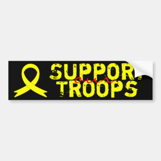 Support Our Troops awareness ribbon Bumper Sticker