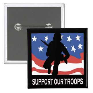 Support Our Troops 15 Cm Square Badge