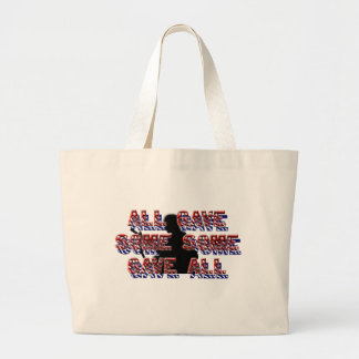 Support our troops canvas bag