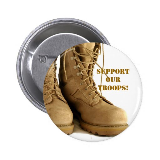 support our troops! button