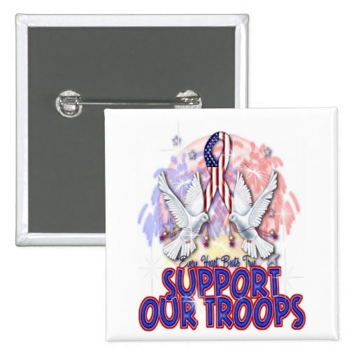 """Support Our Troops"" Button"