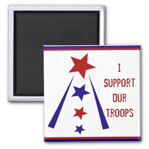 Support Our Troops Button Fridge Magnets