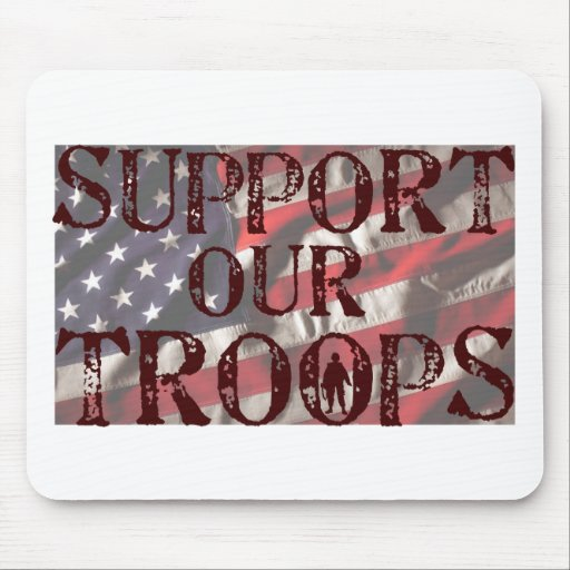 support our troops copy mouse pads