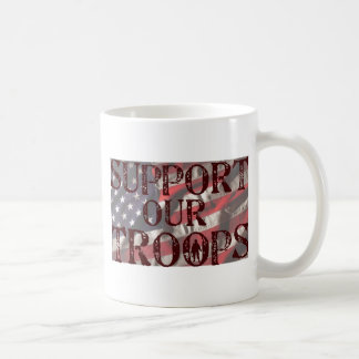 support our troops copy classic white coffee mug