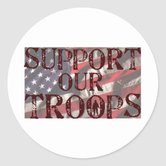 support our troops copy round sticker