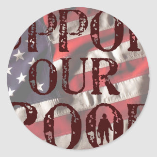 support our troops copy classic round sticker