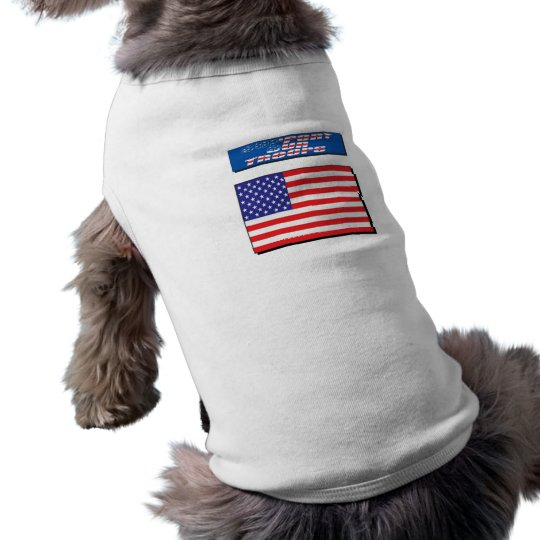 Support Our Troops Doggie Ribbed Tank Top Sleeveless Dog Shirt