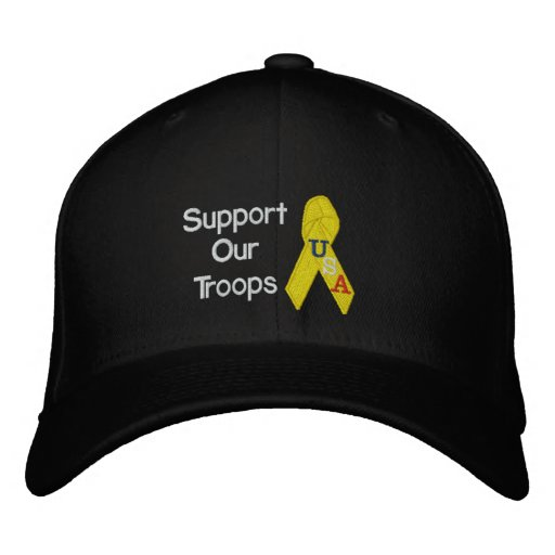 Support Our Troops Embroidered Hat
