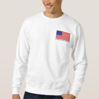 Support Our Troops Flag Mans Sweatshirt