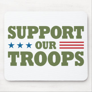 Support Our Troops - Green Mouse Pad
