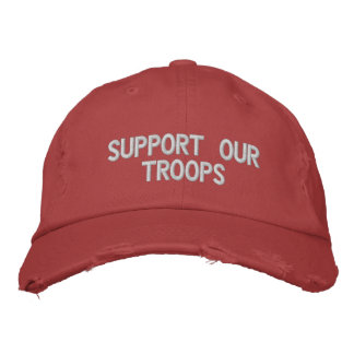 Support Our Troops Hat Embroidered Hat