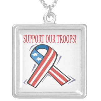 Support Our Troops Custom Necklace