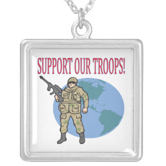 Support Our Troops Necklaces