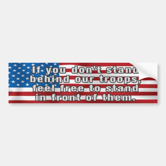 Support Our Troops Patriotic Bumper Sticker