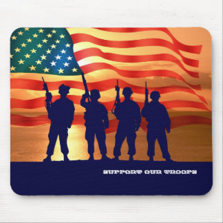 Support Our Troops. Patriotic Gift Mousepads