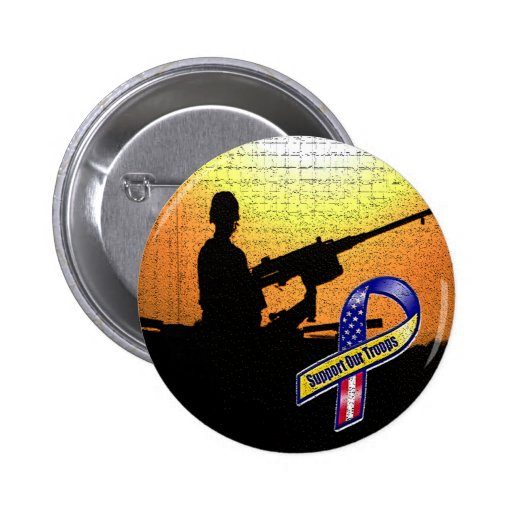 SUPPORT OUR TROOPS PIN-ON BUTTON