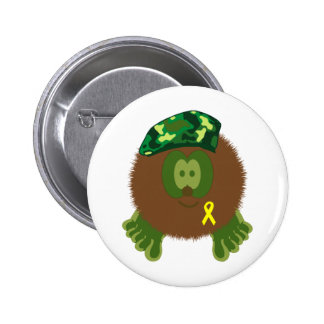 Support Our Troops Pom Pom Pal Button