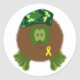 Support Our Troops Pom Pom Pal Stickers