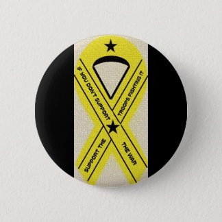 SUPPORT OUR TROOPS RIBBON 6 CM ROUND BADGE