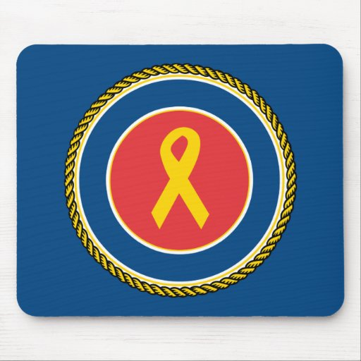 Support Our Troops Ribbon Mouse Pads