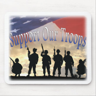 Support Our Troops Soldiers Mousepads