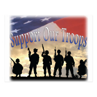 Support Our Troops Soldiers Postcard
