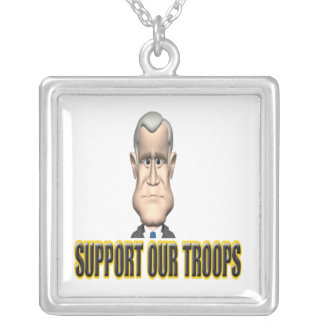 Support Our Troops Speech Pendants