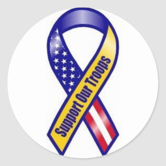 Support-Our-Troops Round Sticker