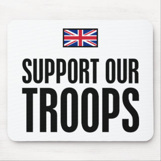 Support Our Troops UK Mouse Pad