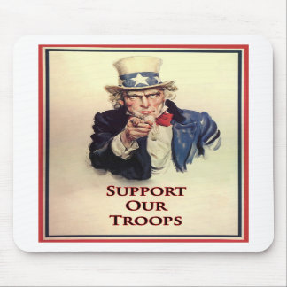 Support Our Troops Uncle Sam Poster Mousepad
