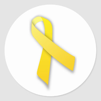 Support Our Troops Yellow Awareness Ribbon Stickers