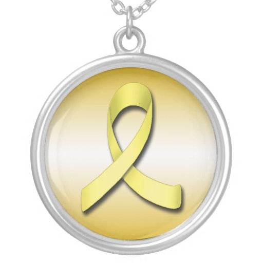Support Our Troops Yellow Ribbon ~ Necklace