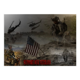 Support our US Veterans Posterdrucke