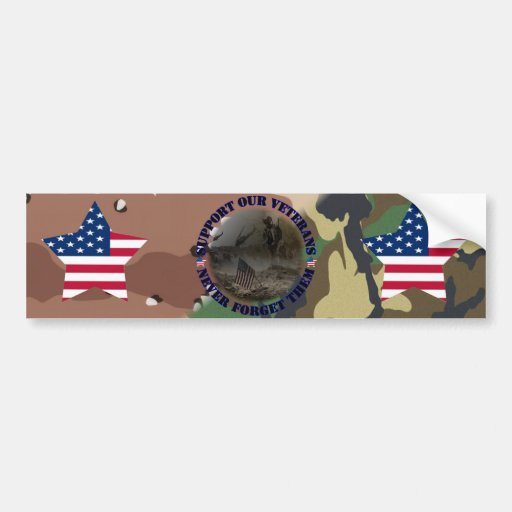 Support our veteran… the USA Bumper Stickers