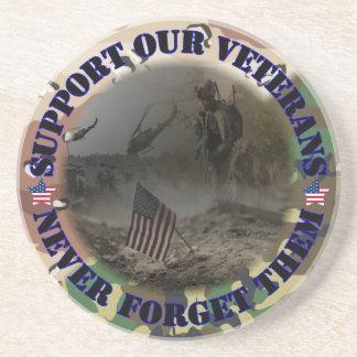 Support our Veterans USA Getränke Untersetzer