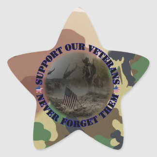 Support our Veterans USA Stickers