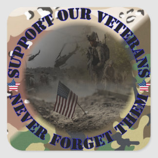Support our Veterans USA Sticker