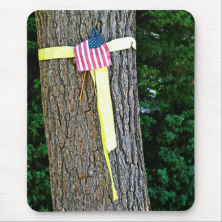 Support Out Troops Yellow Ribbon Mouse Pad