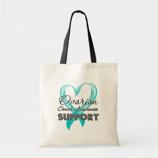 Support Ovarian Cancer Awareness Canvas Bags