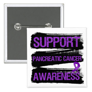 Support Pancreatic Cancer Awareness Grunge 15 Cm Square Badge