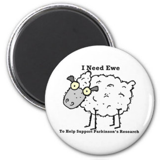 Support Parkinson's Research 6 Cm Round Magnet