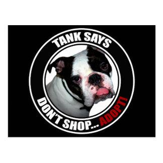 Support Pet Adoption, DON'T SHOP, ADOPT! Postcard