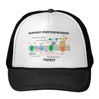 Support Photosynthesis Exhale (Biochemistry Humor) Hat