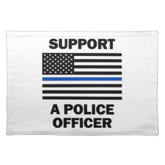 Support Police Officers Place Mats