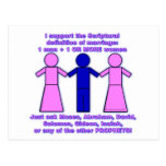 Support Polygamy postcard
