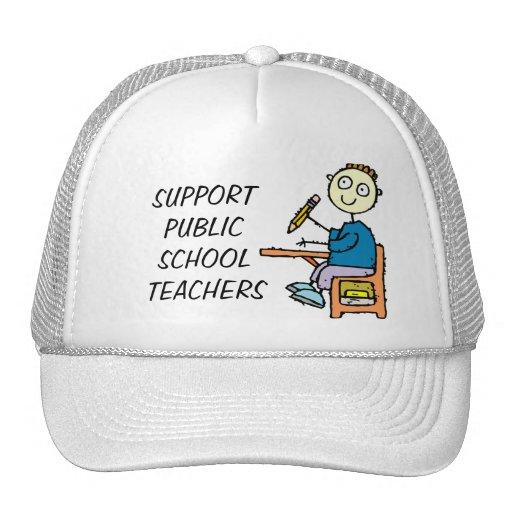SUPPORT PUBLIC SCHOOL TEACHERS TRUCKER HAT