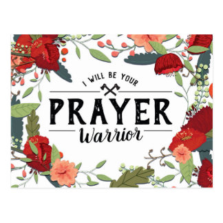 Support, Religious, I'll your Prayer Warrior Postcard
